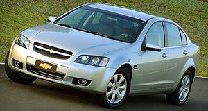 Holden Commodore Brazilian: Underneath the Chevrolet Omega CD lies a VE Berlina.