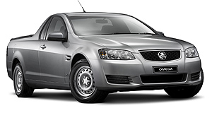 Holden Commodore ute Base model upgrade: Omega Ute gains SIDI V6 engine and and six-speed automatic transmission.