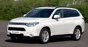 Mitsubishi 2012 Outlander Risk-avoidance: As well as new safety systems, the next-generation Outlander sports conservative styling.
