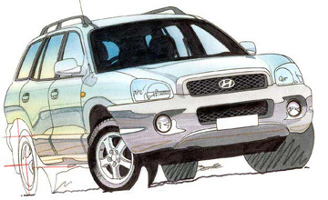 2000 Hyundai Santa Fe GLS V6 5-dr wagon Car Review