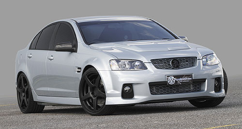 Holden Commodore King of the mountain: The WP Series II (left) was a tribute to the TWR Group A Commodore and Walkinshaw are now offering a limited edition Bathurst 50th Anniversary Pack.