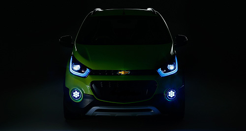 Chevrolet 2017 Beat CrossBeat up: General Motors released this picture of a Chevrolet concept – one of two to be revealed by the bow-tie brand at next month's Auto Expo Delhi.