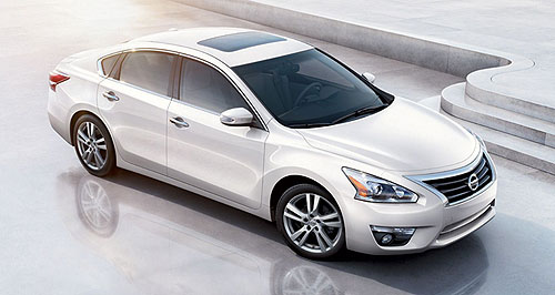 Nissan 2013 Altima Outed: The new Nissan Altima has emerged before its New York public reveal this week.