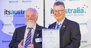 General News Events Recognised: The winner of the Max Lay Lifetime Achievement Award, Ian Oxworth, who was responsible for the implementation of the tolling and ITS systems on Melbourne's EastLink Tollway.