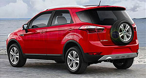 Ford 2012 EcoSport Red high-rider: The locally-developed Ford EcoSport budget crossover SUV looks set for Australian showrooms. Image credit: Car and Driver Brazil, Jo�o Kleber Amaral.