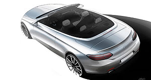 Mercedes-Benz 2017 C-Class CabrioletSketchy details: All that is currently known about the upcoming Mercedes-Benz C-Class Cabriolet comes from a few spy shots, this sketch and its close mechanical relationship with the C-Class Coupe.