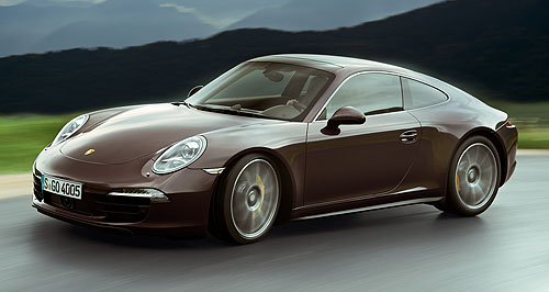 Porsche 911 Carrera 4On a wing: Porsche has built a new Carrera 4S in right-hand drive especially for the Australian International Motor Show in Sydney.