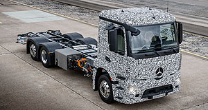 Mercedes-Benz 2020 Urban eTruck Power load: Mercedes-Benz hopes to have its Urban eTruck ready for production by early next decade.