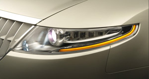 Ford  Seeing around corners: Ford's LED lights will star on the Lincoln concept.