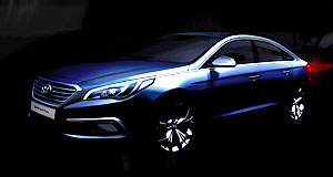 New York 2014 Live performance: It exists only as a teaser image at the moment, but Hyundai will show the real-deal Sonata at New York.