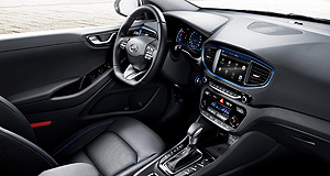 Hyundai 2016 IONIQ Exclusive admission: After a pair of renderings, Hyundai has finally offered a true look at the interior of its new Ioniq.