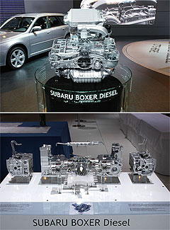 Left: Boxer diesel engine. Mr Senior admitted it was unlikely the factory ...