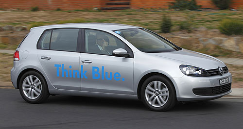 Volkswagen Golf 103TDI BlueMotion TechnologiesBlue note: Volkswagen has added another eco-friendly variant to its popular Golf hatch range.