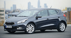 Kia 2013 Cerato Planting the seed: Kia design chief Peter Schreyer said the new Cee'd (pictured at the Geneva motor show) points to the look of the next-generation Cerato due here next year.