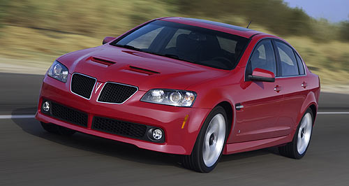 Ford  Consigned to history: The  Holden-built G8 was axed along with the Pontiac brand during the GFC.