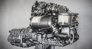 Mercedes-Benz  Topsy-turvy: Mercedes has reversed the trend of diesel engines with a new four-pot that has steel pistons and an aluminium block.