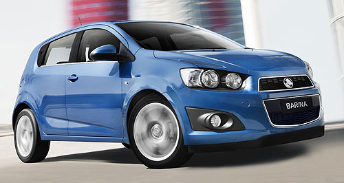 Holden 2011 Barina No more beep-beep: Holden's new Barina gets a more aggressive look.