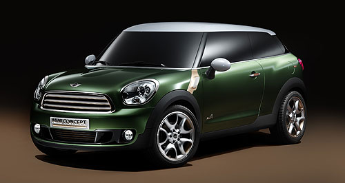 Mini 2013 Paceman Niche filler: Mini Australia will add a seventh model to its line-up next year with a production version of the Paceman concept.
