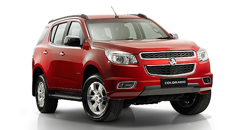 Holden 2013 Colorado 7 Grilled: The Holden Colorado 7 debuted today wearing its Holden face for the first time in public.