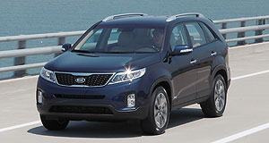 Kia 2012 Sorento Spaced out: The new Kia Sorento is not only stronger but also more spacious in the rear seats.