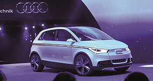 Audi  Unveiled: The A2 concept makes its public debut on the Audi stand at the Frankfurt show.