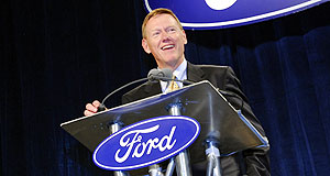 Ford  Blue in the black: Ford CEO Alan Mulally has Ford in the pink of health.
