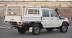 Toyota LandCruiser 70 Old school: The decades-old Toyota 70-Series LandCruiser will be available in a dual-cab bodystyle from September.
