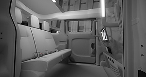 Nissan NV200 NY City CabSpace cab: Nissan's NV200 taxi boasts plenty of legroom and phone charging outlets, but isn't wheelchair-friendly.