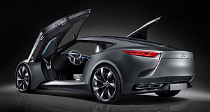 Hyundai 2016 Genesis CoupeHND-Nein: The North American market perceived Hyundai's striking HND-9 concept as too small to do battle with German competition, so a new Genesis-based coupe would have four seats and a V8 engine.