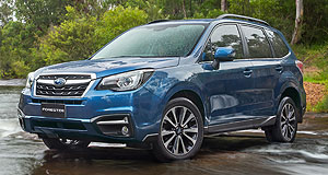 Subaru Forester Forest jump: Subaru's Forester SUV has been given a refresh with more equipment and a suspension tune unique to Australia.