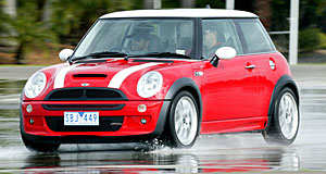 Mini Cooper One with the Works: Mini's JCW treatment is subtle, visually extending only to badges.