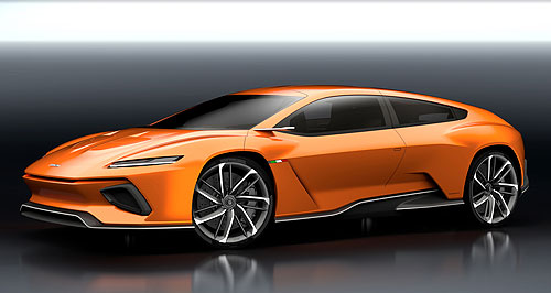General News  Gee T: Italdesign's GTZero show car would not look out of place in a Lamborghini sowroom.