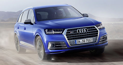 Audi 2017 Q7 Under pressure: The Audi SQ7's electric compressor spins up to 70,000 rpm in just 250 milliseconds, giving the diesel V8's two exhaust-driven turbos a huff to eliminate lag.