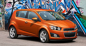 Holden  Sonic boom: The Chevrolet Sonic LTZ is the sort of sporty small car that Holden wants under its Barina badges.