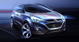 Hyundai 2010 ix35 X marks the spot: Hyundai's Tucson replacement, the ix35, will take a bow at Frankfurt.