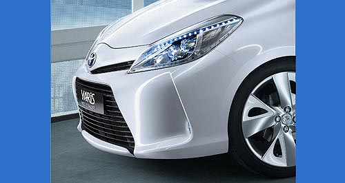 Toyota 2012 Yaris HybridThe nose knows: Toyota has released this taste of the Yaris Hybrid concept, which is clearly more than a driveline transplant.