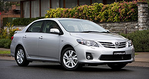 Toyota 2012 Corolla Still strong: Despite its age, the current Corolla remains the second-best-selling car in Australia for this year.