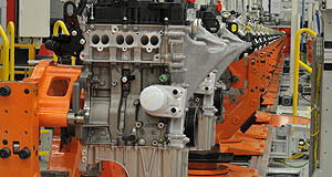 Ford  Triple treat: Ford's drive to keep increasing its capacity to produce EcoBoost engines continues with the opening of a new production line in Romania.