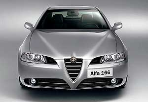 Alfa Romeo  On the way: The nip-and-tucked 166 sedan will arrive in Australia in three months' time.