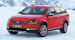 Volkswagen 2012 Passat AlltrackPumped up: The new Volkswagen Passat Alltrack will attack the Subaru Outback in Australia from late this year.