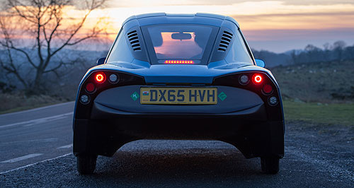 Riversimple 2018 Rasa H2 no: This teaser image released earlier in the week had GoAuto excited that Riversimple was about to reveal a savage high-performance hydrogen hyper car, but it didn't.