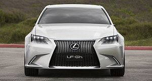 Lexus 2012 GS Bold face: The new Lexus 'spindle grille' as seen on the next-gen GS-previewing LF-Gh concept is set to adorn updated LS, RX and LX models.