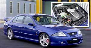 Ford T-Series rangeThe heart of the matter: The TS50 is powered by a stroked Windsor V8 engine which now produces 250kW.