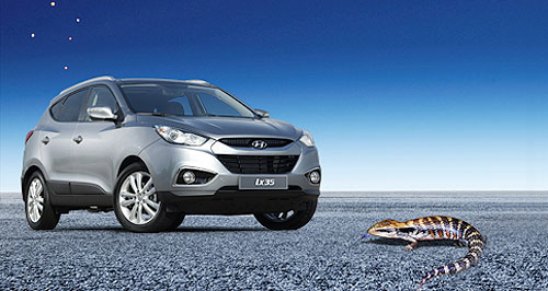 Hyundai  Coming 2010: The Hyundai ix35 compact SUV is one of three models that Hyundai has on the launching pad for Australia.