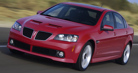 Pontiac G8 Too good: The Holden-made Pontiac G8 might be saved, thanks to comeback car guy, Bob Lutz.