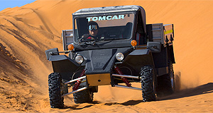 Tomcar  Made in Australia: Tomcar's range of go-anywhere vehicles is gaining traction Down Under with more ATV users attracted to the brand's suitability to our diverse and unforgiving landscape, such as the Simpson Desert.