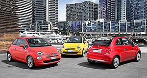 Fiat 500 Italian job: Fiat has given the 500 a minor makeover including new headlights and a redesigned front and rear bumper, along with new wheels and extra equipment.