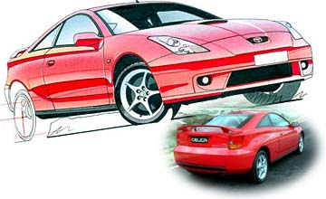 1999 Toyota Celica ZR coupe Car Review