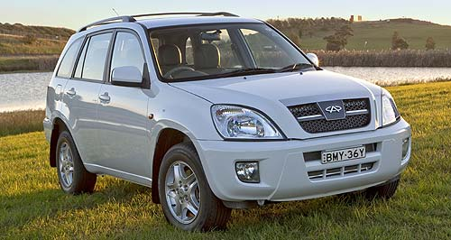 Chery J11 J11: Chery's compact SUV is the cheapest SUV on the Australian market.