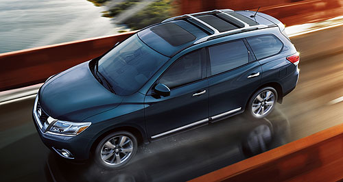 Nissan Pathfinder Stars 'n' stripes: Australia is so far the only right-hand drive market to put its hand up for the US-sourced Nissan Pathfinder.